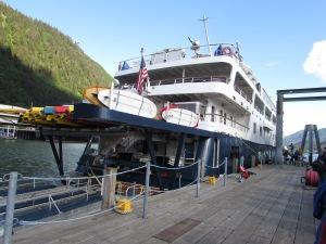 The Safari Endeavor at it's dock.