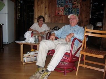A light moment during a family reunion in June of 2006