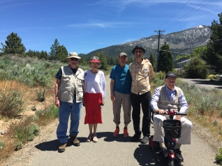 Paul, Renie, Mitchell, Bob and Jimmie at the trail head....